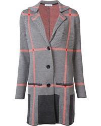 Abrigo de tartán gris