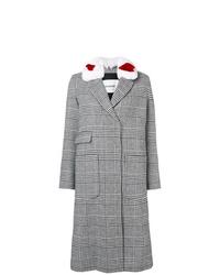 Abrigo de tartán gris de Ava Adore