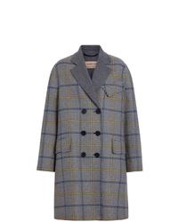 Abrigo de tartán gris de Burberry