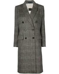Abrigo de tartán gris de By Malene Birger