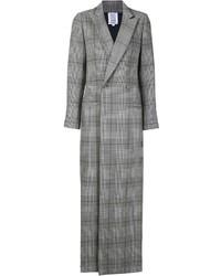 Abrigo de tartán gris de Rosie Assoulin
