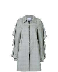 Abrigo de tartán gris de Strateas Carlucci