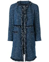 Abrigo de Tweed Azul Marino de Theory