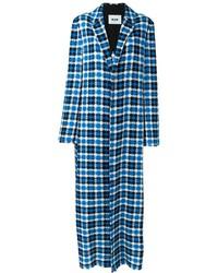 Abrigo de tweed azul de MSGM
