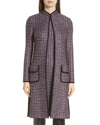 Abrigo de tweed en gris oscuro