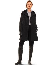 Abrigo de Tweed Negro