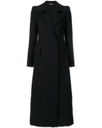 Abrigo de Tweed Negro de Alexander McQueen
