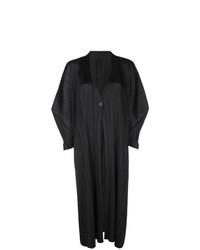 Abrigo duster negro de Pleats Please By Issey Miyake