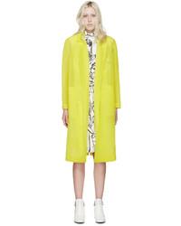 Abrigo en amarillo verdoso