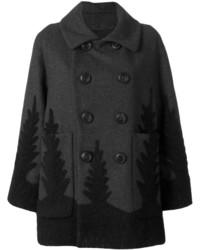 Abrigo en gris oscuro de Dsquared2