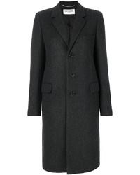 Abrigo en gris oscuro de Saint Laurent