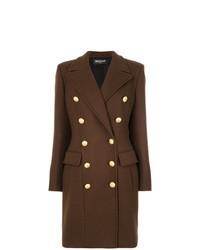 Abrigo en marrón oscuro de Balmain