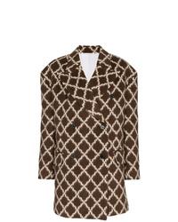 Abrigo en marrón oscuro de Calvin Klein 205W39nyc
