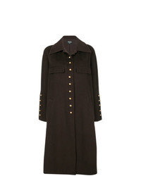 Abrigo en marrón oscuro de Chanel Vintage