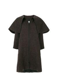 Abrigo en marrón oscuro de Gianluca Capannolo
