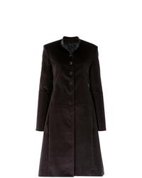 Abrigo en marrón oscuro de Gloria Coelho