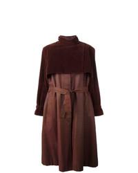 Abrigo en marrón oscuro de Pierre Cardin Vintage