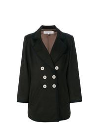 Abrigo en marrón oscuro de Yves Saint Laurent Vintage