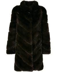 Abrigo en marrón oscuro de Yves Salomon