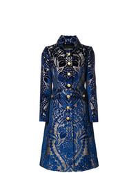 Abrigo Estampado Azul Marino de Dolce & Gabbana