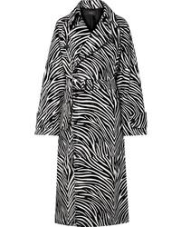 Abrigo estampado en negro y blanco