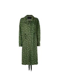 Abrigo estampado verde oliva de Christian Wijnants
