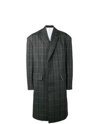 Abrigo largo a cuadros en gris oscuro de Calvin Klein 205W39nyc