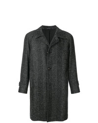 Abrigo largo a cuadros en gris oscuro de Tagliatore