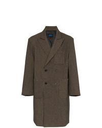 Abrigo largo a cuadros en marrón oscuro de Charm's