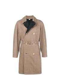 Abrigo largo a cuadros marrón claro de Gucci