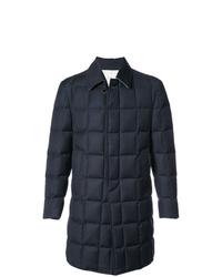 Abrigo largo acolchado azul marino de Thom Browne
