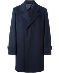 Abrigo Largo Azul Marino de Alexander McQueen