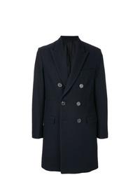 Abrigo largo azul marino de AMI Alexandre Mattiussi