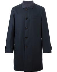 Abrigo largo azul marino de Brunello Cucinelli
