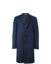 Abrigo largo azul marino de Canali