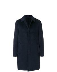Abrigo largo azul marino de Dell'oglio