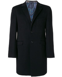 Abrigo largo azul marino de Etro
