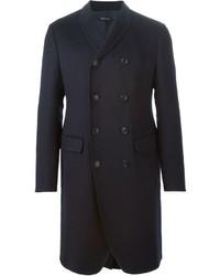Abrigo largo azul marino de Giorgio Armani