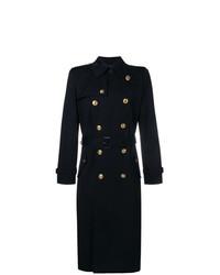 Abrigo largo azul marino de Givenchy