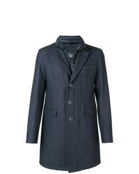 Abrigo largo azul marino de Herno