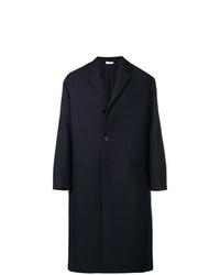 Abrigo largo azul marino de Jil Sander