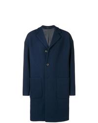 Abrigo largo azul marino de Mauro Grifoni
