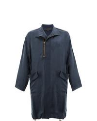 Abrigo largo azul marino de Miaoran
