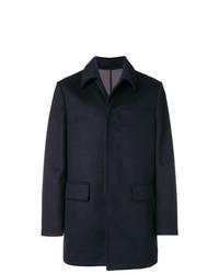 Abrigo largo azul marino de Paolo Pecora