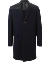 Abrigo largo azul marino de Valentino