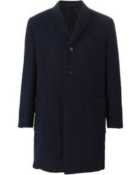 Abrigo largo azul marino de Z Zegna