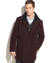 Abrigo largo burdeos