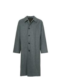 Abrigo largo de espiguilla azul marino de E. Tautz