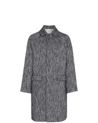 Abrigo largo de espiguilla en gris oscuro de Jil Sander