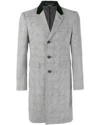 Abrigo largo de espiguilla gris de Alexander McQueen